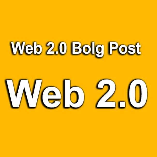 Web 2.0 Blog Post